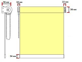 Рисунок 2. Габаритні розміри ролети